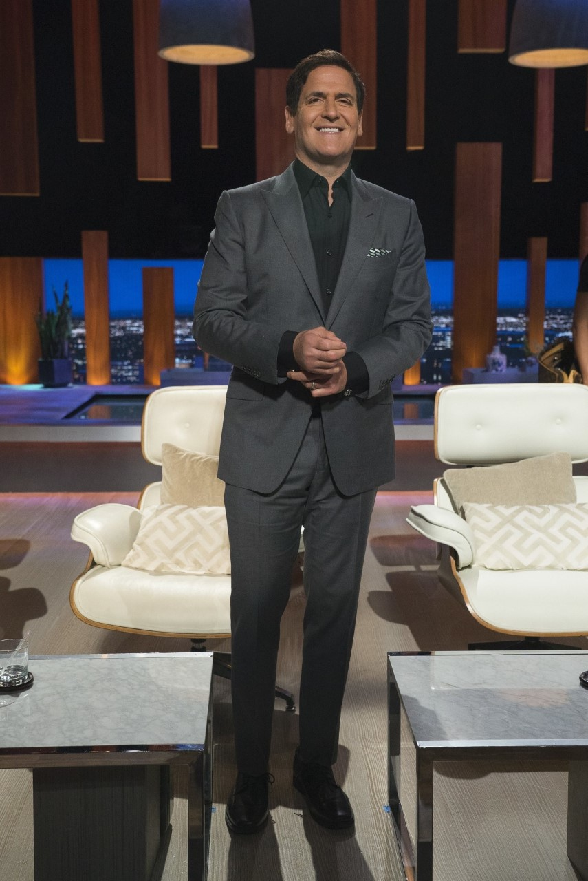 Mark Cuban on Shark Tank Set