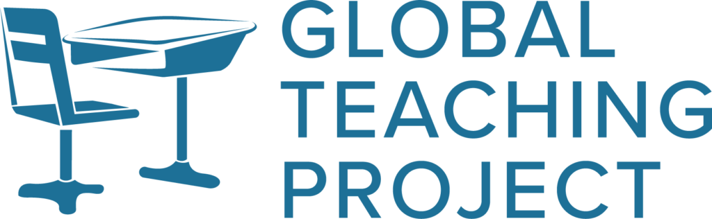 global teaching project logo in blue